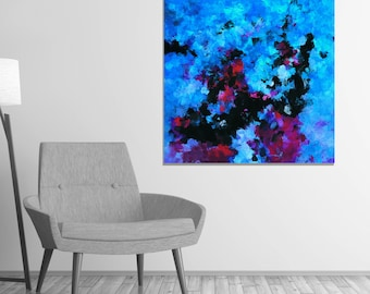 Teal Abstract Art Print, Abstract Wall Art, Abstract Print for Wall Decor, Contemporary Abstract Decor, Creative and Modern Abstract Prints