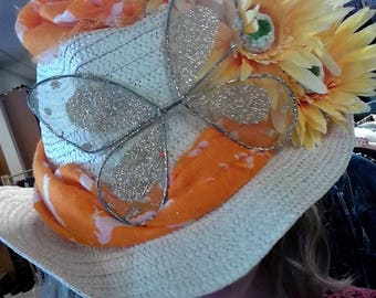 Sunny Butterfly Derby Hat