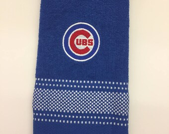 Chicago Cubs Kitchen Towel, Cubs Towel, Chicago Cubs Towel, Kitchen Dish Towel,Wedding Shower Gift, Chicago Cubs Kitchen Decor, Chicago Cubs