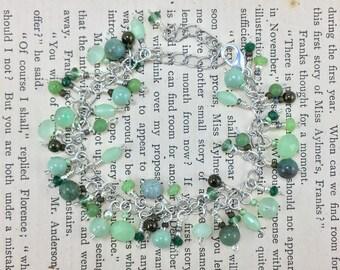 Australian Dragon Blood Jade stacked bracelet