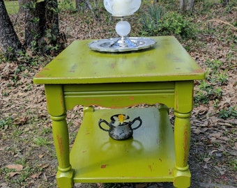 Sale TODAY..45.00.  Distress Painted Side Table