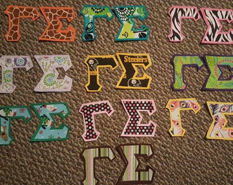 Greek Fabric Letters