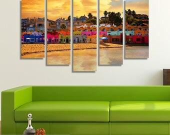 Santa Cruz, Beach, Beach Décor, Beach Canvas, Beach Canvas Art, Panorama Wall Art, California Wall Art, California Print, Beach Photography