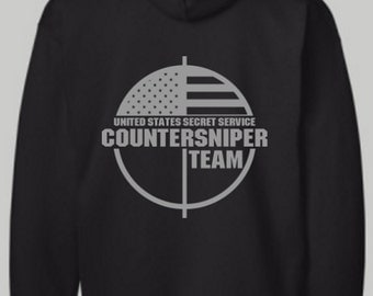 US Secret Service CounterSniper Team Shirt, Secret Service, Hoodie, Long Sleeve Shirt, T Shirt