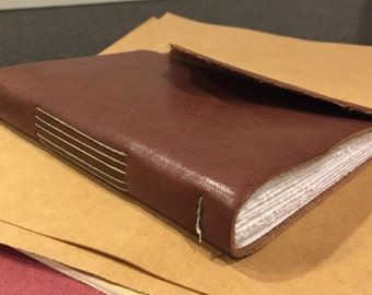 Handmade  leather Longstitch Journal