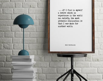 C.S. Lewis, Book Quotes, Wall Art, Inspiring Quotes, Minimalist Art, Vintage Art, Home Decor, Typographic Art,  Literary Art, Library Art