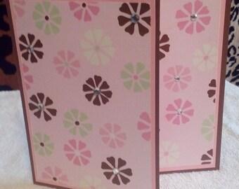 Blank Handmade Greeting Card with Custom Envelope