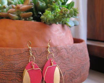 Red Ceramic Earrings