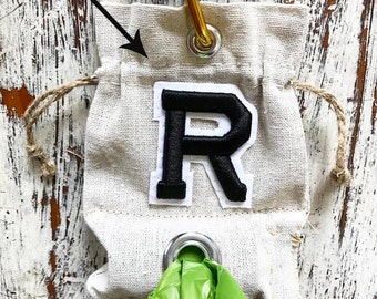 """Pet Initial dog waste carrier or dog treat bag  4"""" X 6"""""""