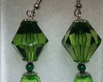 Green Fashion Earring