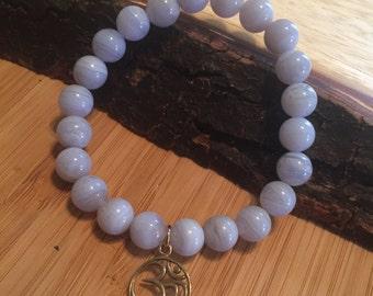 Throat Chakra Balancing OM Bracelet
