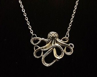 Octopus Necklace on a Silver chain