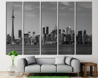 Toronto Canvas Print Toronto Wall Art Toronto Cityscape Toronto Skyline Toronto Skyscraper Toronto Wall Decor Toronto Canada Wall Art Print