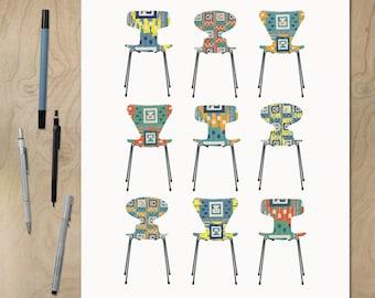 arne jacobsen etsy. Black Bedroom Furniture Sets. Home Design Ideas