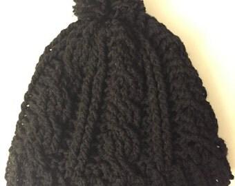 Crochet Beanie with Pom pom - Knit Beanie