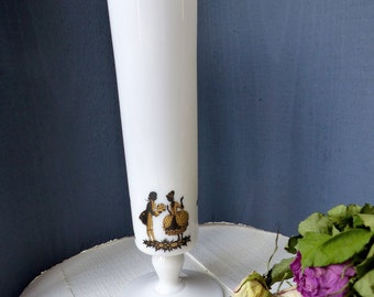 Former french Vase Praticality opaque glass white flowers french vintage white vase Flowers Scenes galantes Versailles Antoinette