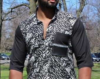 Commuter Zebra 3/4 Sleeve Shirt