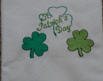 Embroidered Luck of the Irish St. Patricks Day Towel