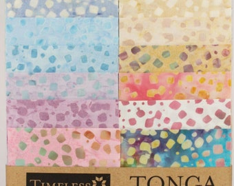 "SALE Confetti Tonga Treat Strips Junior / Junior Jelly Roll by Timeless Treasures - 20, 2.5"" Strips per pack (1 each of 20 fabrics)"