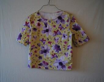Beautiful flower top,Girls top,lovely top,womens top,