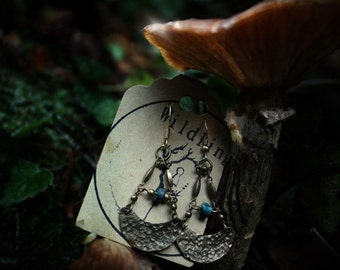 Hammered Chandlier Earrings