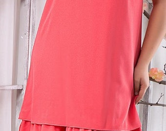 Coral Short Dresses For Different Occasions Party Plus Size Summer Bridesmaids  Knee-Length Dress