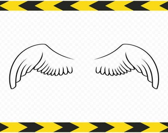 Angel wings SVG Cut files for Cricut Silhouette DXF PDF Png