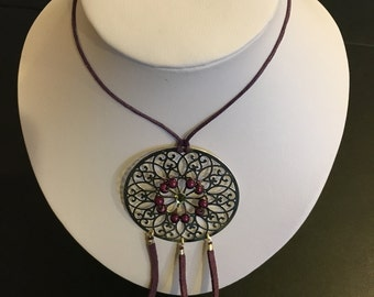 PURPLE FRINGE NECKLACE