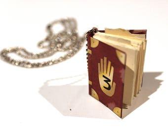 3cm Gravity Falls Journal #3 Miniature Book Replica Pendant Necklace