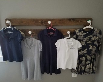 Wooden and Ceramic Clothes Rack