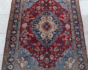 192 x 134 cm (6.3 x 4.4 ft) Tabriz rug, antique carpet, vintage, handmade, Persian rug, oriental rug, hand knotted, old, wool.