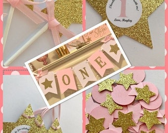 Pink and Gold First Birthday , Pink and Gold First Birthday Decoration, First Birthday Girl Party, Birthday Package