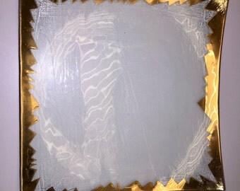 "Annieglass 10"" ZigZag Pattern Plate"