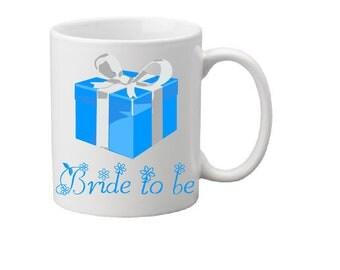 Tiffany box,bride to be,bride to be mug,bridal gift,brides gift,wedding gift,wedding idea,bride gift,bride,wedding,wedding gift idea,coffee