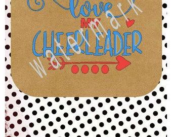 Cheerleader SVG - Love my cheerleader transfer - Cheer mom SVG -silhouette cameo cricut  - Love my cheerleader shirt Cheerleader mom svg