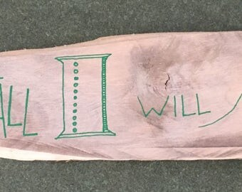 Though I Fall I Will Rise Again Micah 7:8 - Devotional Wall Art - Wall Hanging