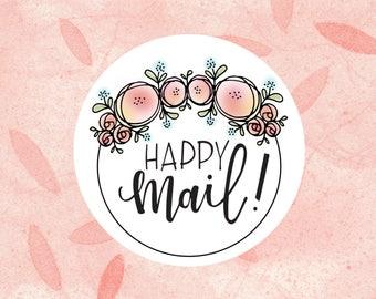 Happy Mail - 2-1/2 Inch Sticker