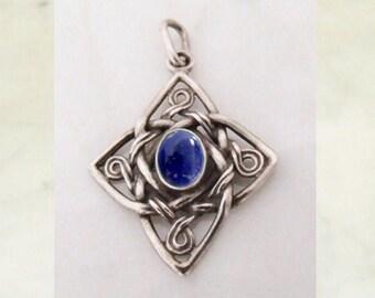 "Silver Pendant with lapis lazuli ""Celtic Cross"""