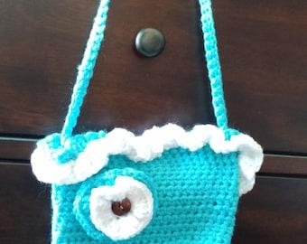 Crocheted Blue Princess Purse