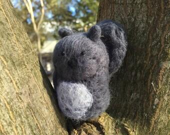 Hand felted squirrel