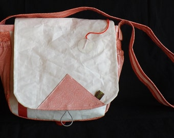 bag satchel / handbag in boats sail-cloth
