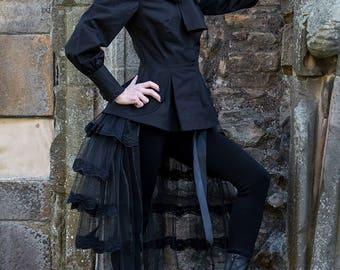 Victorian Blouse in Jet Black