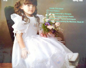 Sew Beautiful Magazine Spring 1990 collectors Smocking Patterns Martha Pullen