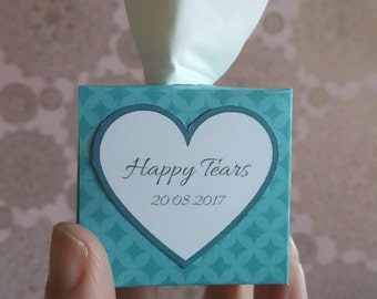 "5 Wedding ""Happy Tears"" Tissues"