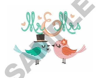 Mr And Mrs - Machine Embroidery Design