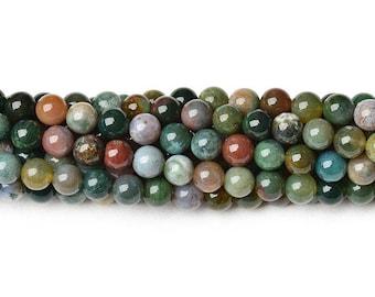 8mm fancy jasper beads indian jasper beads multicolor jasper beads 6mm fancy jasper indian agate beads indian round beads fancy agate beads