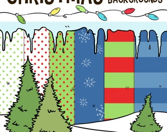 Christmas Borders Clip Art Holiday School Winter Classroom XMAS