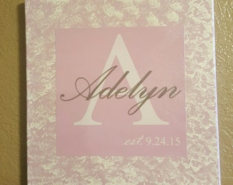 12x12 Traditional Canvas with name and date