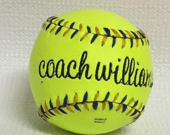 Embroidered Softball - Custom