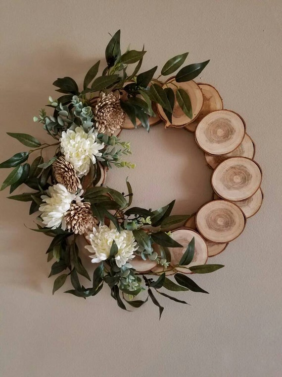 Items Similar To Country Wreath Spring Wreath Cabin